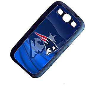 New England Patriots On Blue Background Custom Shockproof Rubber Case By S and S Accessories(TM) for Samsung Galaxy S3