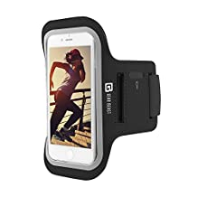 Gear Beast Sports Armband Case For iPhone 6 Plus 6s Plus Galaxy S8 Plus, S7 Edge, Note 8, 5. Cell Phone Holder For Running Jogging Workout Fitness Exercise. Waterproof Reflective Band With Key Pocket