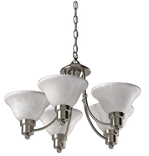 Hardware House 544452 Bristol 5-Light Chandelier, Brushed Nickel