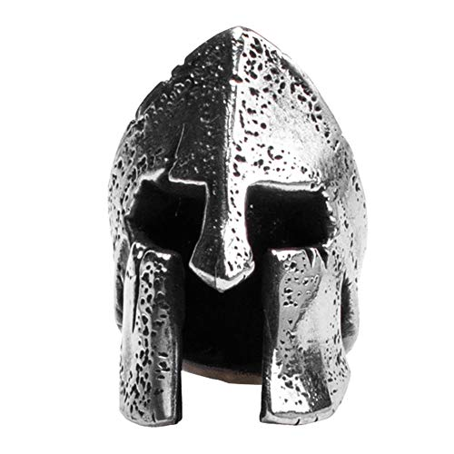 Metalfable Corinthian Helmet Paracord Bead Hand-Casted, Tibetan Silver Charms EDC Accessories for Pendant Buckle,Keychain Pendant,Knife Lanyard,Zipper Pull