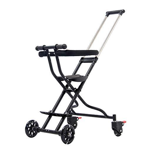 XUE Triciclo de los niños, Carro Plegable Ligero del bebé con el Sistema de Seguridad y el Asiento reclinable...