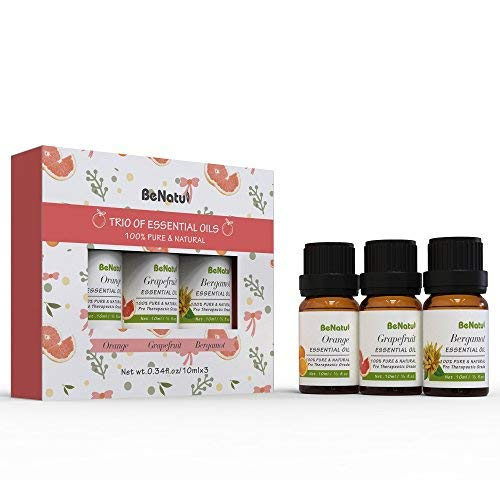 - BeNatu Essential Oils Basic Set of 3 pack (Orange, Grapefruit, Bergamot), 100% Pure Concentrated Oil, Refresh Body & Mind, Skin Care Massage, Air fresh for Room 10ml each