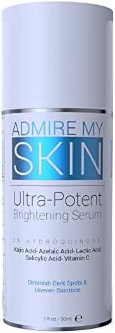 Admire My Skin 2% Hydroquinone Fade Cream Dark Spot Corrector & Melasma Treatment - Contains Salicylic Acid, Kojic Acid, Azelaic Acid, Lactic Acid 1 fl oz / 30 ml