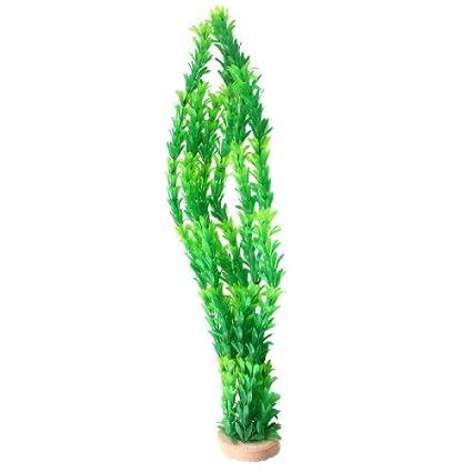 Amazon.com : eDealMax Planta de hierba acuática acuario de plástico ...