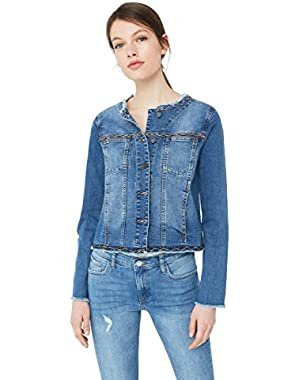 Mango Women's Beadwork Denim Jacket