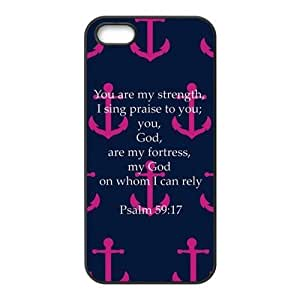 iPhone ipod touch4 Phone Case Navy and Pink Faith Anchor with Bible Verse Psalm 59:17 Case phone case XH112938