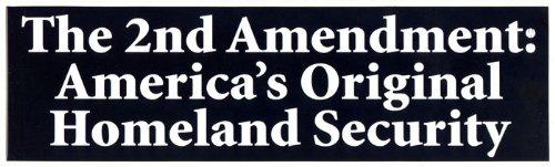 Original Decals - The 2nd Amendment: America's Original Homeland Security - Bumper Sticker / Decal (3