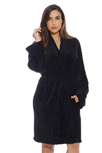 6312-Black-XL Just Love Kimono Robe / Bath Robes for Women