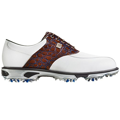 FootJoy DryJoys Tour Golf Shoes 2016 White/Brown Gator Croc Medium 14