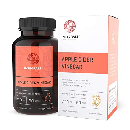 Organic Raw Apple Cider Vinegar Capsules with Mother | Potent 700 Milligram of ACV in Every Vegan Pill | Supports Digestion and Natural Detox | Acid Reflux Relief, Powerful Intestinal Cleanser.