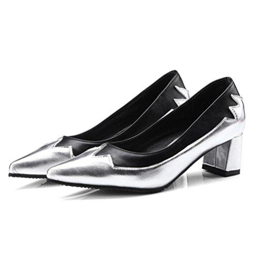 Orteils Taille Épais Open En Des Bouton Xie Avec Étudiant De Chaussures Plate Confortable Toe Plat Métal forme Femmes Fond Grande Simple Loisirs Beige Été 7HpxwfI