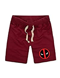 Sysuer Mens Deadpool Pattern Cotton Gym Shorts Casual Short