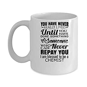 Funny CHEMIST Jobs Mugs - I Am Blessed CHEMIST Best Sarcastic Mug Gift For Him,Her, Adult.. On Thanks Giving, Christmas Day, White 11Oz Coffee Mugs