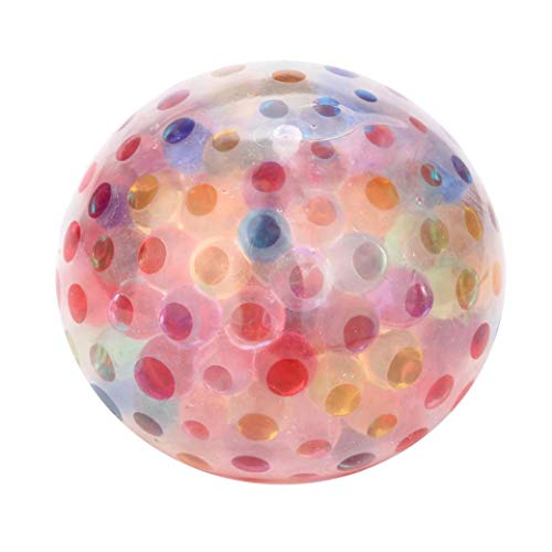 Balls Squeezable (Matoen Spongy Rainbow Ball Toy Squeezable Stress Squishy Toy Stress Relief Rainbow Bubble ballFor Fun (A, Multicolor))