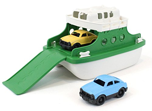 "Green Toys Ferry Boat Bathtub Toy, Green|White, 10""X 6.6""x 6.3"""