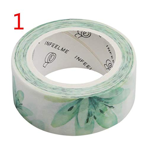 Airlove Floral Washi Masking Tape Flower Decorative Paper Tapes for Arts and DIY Crafts, Scrapbooking, Bullet Journal, Planner, Gift Wrapping, Holiday Decoration