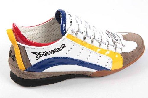 Dsquared2 Dsquared zapatos zapatillas de deporte hombres en piel blanco EU 44 S12SN551P103370: Amazon.es: Zapatos y complementos