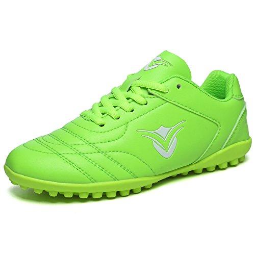 XING Lin Fußball Schuhe Jungen und Mädchen Training Schuhe Schüler Jungen Broken Nail Leder Fuß Kunstrasen Fußball Schuhe grün