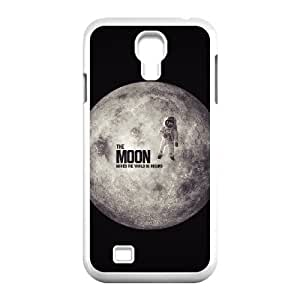 Okaycosama Funny Samsung Galaxy S4 Cases Moon 5 Protective for Girls, Cell Phone Case for Samsung Galaxy S4 Mini, [White]