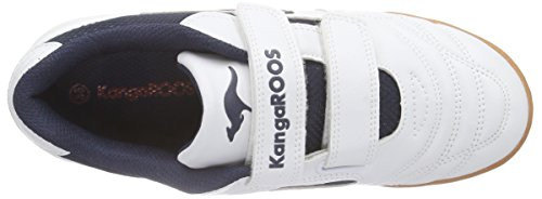 KangaROOS 10704 - Zapatillas de deporte infantiles Blanco (Weiss (wht/navy/red 046))