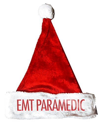 EMT PARAMEDIC Santa Christmas Holiday Hat Costume for Adults and Kids u6 (Paramedic Costume)