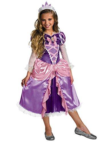 [Disney Tangled Girls Rapunzel Princess Halloween Costume S] (Primrose Halloween Costume)