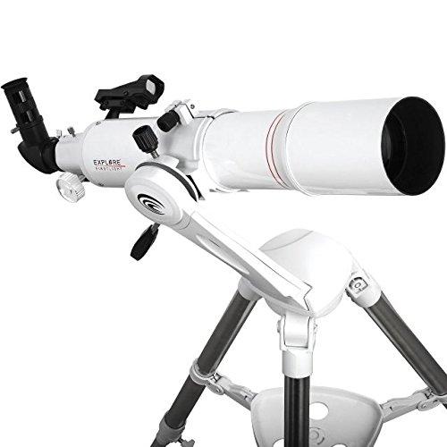 Explore Scientific Refractor Telescope with TWI Nano, 80mm, White by Explore Scientific