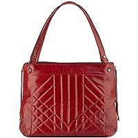 Bolsa de couro legítimo Giovanna vermelha