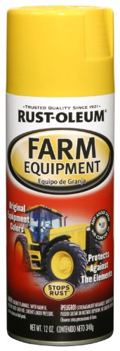 Rust-Oleum Automotive 249275 12-Ounce John Deere Farm Equipment Spray, Yellow