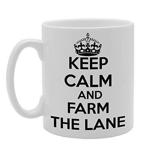 CCS 11oz KEEP CALM AND FARM THE LANE Novelty Gift Ceramic Tea Coffee Mug