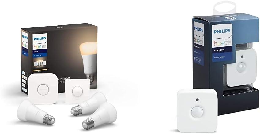 Philips Hue Kit de démarrage Ampoules LED Connectées White E27 Pack de...