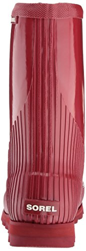 Red Boots Short Joan Womens candy Apple Winter Dahlia Waterproof Rain Wellingtons Sorel Gloss fwxR8zq