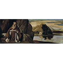 The Perfect effect canvas of oil painting 'Maino Fray Juan Bautista San Antonio Abad en un paisaje 1612 14 ' ,size: 16 x 41 inch / 41 x 104 cm ,this High Resolution Art Decorative Prints on Canvas is fit for Laundry Room gallery art and Home gallery art and Gifts