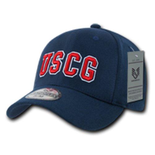 US Coast Guard Law Enforcement Embroidered Flex 97% Acrylic/3% Spandex Baseball Cap/Hat, Comfort Fit Color: Navy Size: Large/XL