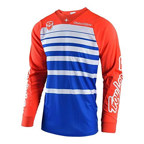 - Troy Lee Designs Men's Offroad Motocross Streamline SE Jersey (Large, Blue/Orange)