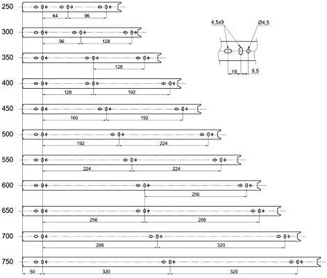 2 x SO-TECH Glissi/ère /à Extension Compl/ète 1000 mm 80 Kg Capacit/é de Charge Glissi/ères pour Placard