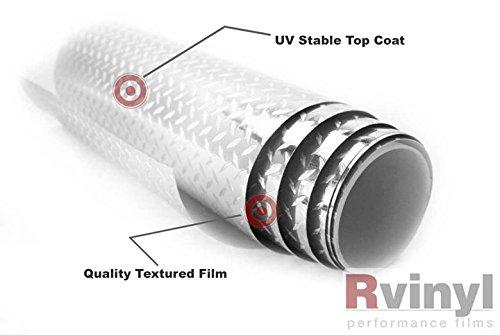 Rwraps Metal Vinyl Film Sheet Roll Wrap Decal Diamond Plate 24 x 36