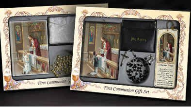 Girls First Communion Deluxe Set Includes Missal, Gift Ro...