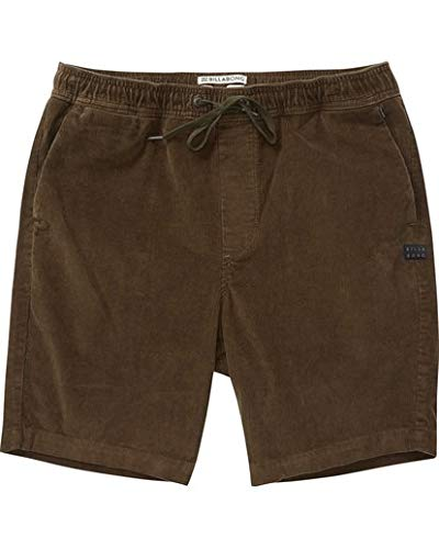 - Billabong Men's Larry Layback Cord Walkshorts,Small,Coffee