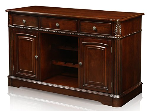 24/7 Shop at Home 247SHOPATHOME IDF-3222SV sideboards, Cherry