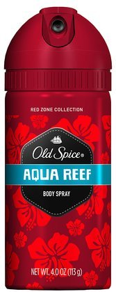 Old Spice Red Zone Deodorant Body Spray, Aqua Reef - 4 Oz