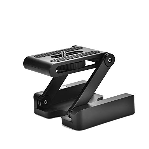 Acouto Tripod Quick Release Plate Folding Z Flex Tilt Head Tripod Ball Head Camera Bracket Compatible for Canon for Nikon for Sony Camera Camcorder