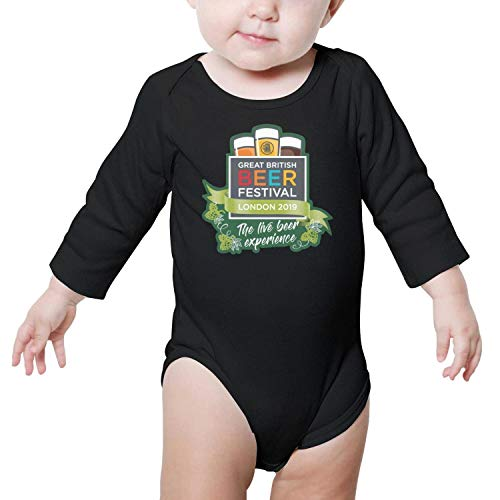 PoPBelle Great American Beer Festival The Live Beer Experience Newborn Black Clothes Bodysuits Long Sleeve Organic Cotton -
