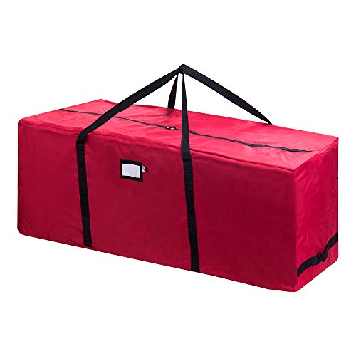 Elf Stor 83-DT5020 Rolling Duffel Style Christmas Storage Bag-Holds a 9 ft. Artificial Tree | Red, 9 Foot