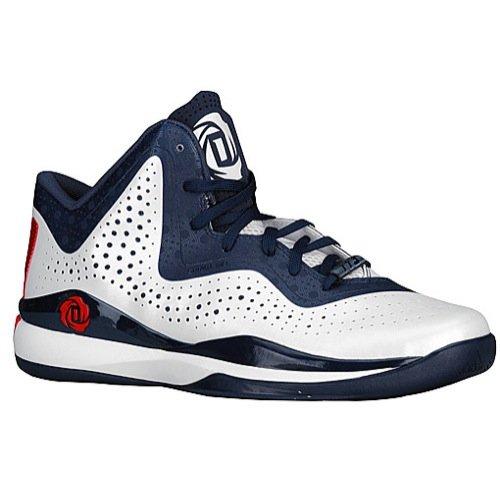 adidas D Rose 773 III Mens Basketball Shoe 14 White-Scarlet-Navy