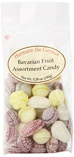 German Fruit - Hermann the German Bavarian Hard Candy, Fruit Assortment, 5.29 Ounce (Pack of 12)