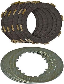 NO LOGO 6 Columna Mejorada de Embrague (6pcs fricción Placas + 5pcs Hierro Disc) Set for H * Onda CG150 CG175 CG200 cG250 CG300 (Color : 6pcsCarbon Fiber Set)