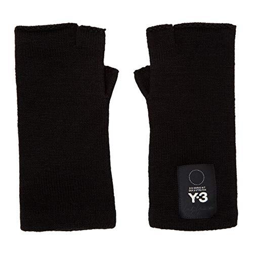 修正するおもちゃバイナリ(ワイスリー) Y-3 レディース 手袋?グローブ Black Logo Gloves [並行輸入品]