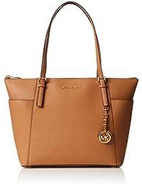 Michael Kors Women's Jet Set Large Top-Zip Saffiano Leather Tote Bag