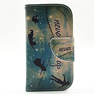 HJZ Genius Pattern PU Leather Full Body Case with Card Slot and Stand for Samsung S3 Mini I8190N